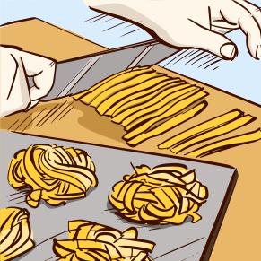 Pasta Flour - Roll out the dough