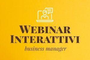 Webinar interattivi di business management
